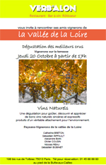 Dégustation Vallée de la Loire