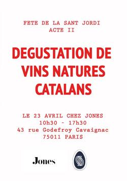Dégustation de vins natures catalans pour la Sant Jordi