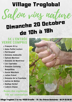 Salon vins nature du village Troglobal