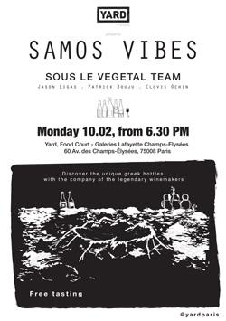 Samos Vibes : Dégustation Sous le Végétal