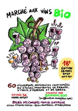Marché des vins bio de Montreuil