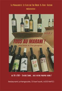Tous au Marani ! Petit Salon de Vins Géorgiens