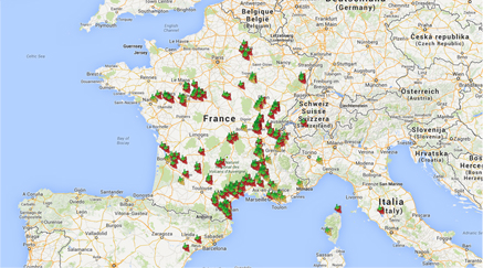 Carte des vignerons