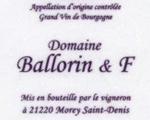 Domaine Ballorin et f